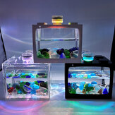 Mini Tropical  Fish Aquarium Desktop Creative Ecological Tank Micro Landscape Fish Tank  With Led Light