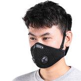 Moto Cara de ciclismo a prueba de viento Mascara con filtro de polvo Anti Polución a prueba de polvo