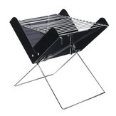 Outdoor Portable Folding BBQ Grill Barbecue Garden Camping Cooking Stainless Charcoal Carbon Oven