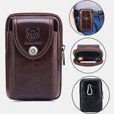 Bullcaptain Genuine Leather Phone Bag Waist Bag Business Bag For Men