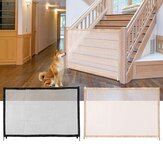 Portable Dog Magic Gate Mesh Safety Separation Guard Folding Dog Fences for Small Big Dogs