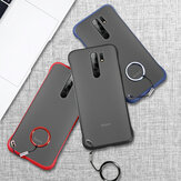 Bakeey for Xiaomi Redmi 9 Caso Frameless Ultra Thin Matte com anel de dedo Hard PC Protective Caso Back Cover Não original