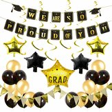 42Pcs/Set Graduation Banner Party Decoration Grad Photo Booth Balloon Wall Decor