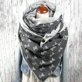 Женский хлопок Plus Толстый сохраняет тепло зимой На открытом воздухе Повседневное милое мультяшное изображение собаки Шаблон Многоцелево