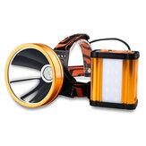 XANES® T6 Güçlü Projektör USB Şarj Edilebilir Süper Parlak Spot Işığı 8x18650 Batarya Güç Bankası ile 30 ° Ayarlanabilir Bisiklet Far