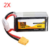 2 PCS ZOP Power 14.8V 1800mAh 65C 4S Lipo Batterij XT60 Plug