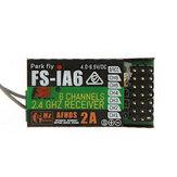 FlySky FS-iA6 2.4G 6CH AFHDS المتلقي لارسال FS-i10 FS-i6