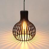 E27ペンダントライト天井ランプシェードフィクスチャLEDアイアン電球なしのモダンなシャンデリアの装飾
