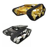 Y100クローラーインテリジェントシャーシタンクカーキットアルミ合金ホイール/ 9Vモーターゴールド/シルバー/ブラック/ブルーカラー