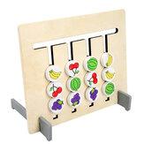 Engraçado frente e verso cor jogo de correspondência de frutas crianças de madeira brinquedos montessori raciocínio lógico treinamento crianças brinquedo educativo presente