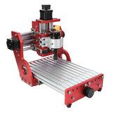 Rot 1419 3 Achsen Mini DIY CNC Router Standard Spindelmotor Holzschnitzerei Graviermaschine Fräsen Gravierer Holzbearbeitung