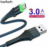 Кабель для передачи данных Twitch Micro USB 3A Линия быстрой зарядки для Huawei Vivo ASUS ZenFone Max Pro (M1) ZB602KL