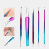 5 Pcs Gradient Acne Remover Tool Set Double-Head Acne Needles Blackhead Removal Face Cleaning Tool