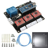 USB 3 Axis Stepper Motor Driver Board For DIY Laser Engraving Machine 3 Axis Control Board