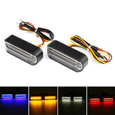 12V Motorcycle Flowing LED Turn Signal Water Running Indicators Lights Universal
