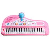 37 Tastiera Mini Electronic Multifunctional Piano con Microfono Piano giocattolo educativo per bambini