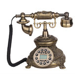 Telefono di rete fissa con cavo Vintage Antique Style Old Fashioned Retro Home Office Decoration