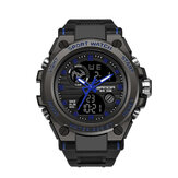 SANDA 739 Multifunction Outdoor Dual Display Watch Calendar LED Display Sport Men Digital Watch