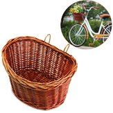 Trendy Style ProSource Bicycle Basket Bike Wicker Style With Straps