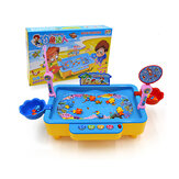 20pcs Electronic Music Fishing Toy Set Children's Magnetic Fishing Toy Set Early Educational for Babies Playing