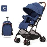 La poussette portable pliable pour bébé avec amortisseurs peut descendre ou s'allonger, des poussettes pour enfants légères pour les tout-petits de 0 à 3 ans