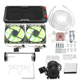 240mm DIY PC Water liquid Cooling Fan Kit Heat Sink Set CPU Block Water Pump Reservoir Hose