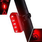XANESTL105LED5modalità luce posteriore bici impermeabile ricarica USB riflettente luce posteriore bicicletta