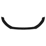 Glossy Black Front Bumper Lip Spoiler Trim 3PCS For VW Golf MK7 MK7.5 2014-2017