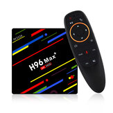 H96 Max Plus RK3328 4G / 64G Android 8.1 USB3.0 Stembesturing TV Box Ondersteuning HD Netflix 4K Youtube