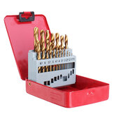 Drillpro 13/19/25 pezzi punte elicoidali HSS Set punte da trapano rivestite in titanio 1-10mm per foratura metallo legno