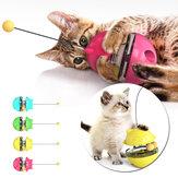 Brinquedo copo interativo para animais de estimação vazando comida bola brinquedo gato Varanda brinquedo plataforma giratória ferramenta engraçada de treinamento para animais de estimação