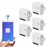 5pcs SONOFF Mini Two Way ذكي Switch 10A AC100-240V يعمل مع Amazon Alexa Google Home Assistant Nest يدعم DIY الوضع يسمح لـ Flash بالبرامج الثابتة