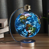 8 Polegadas Levitação Magnética Flutuante Globo Constellation Light Desk Lamp Decor Toy