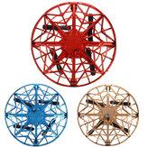 Mini giocattolo aereo volante UFO Quad Levitazione a induzione controllata a mano Mini Drone Giocattolo sicuro a doppia protezione per bambini Attività all'aperto
