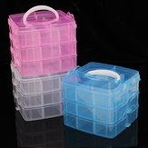 Clear Storage Box Case Plastic Container Organizer for Jewelry Bead