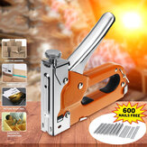 Hand Nailer Stapler with 600Nails Door Type Nail U Nail T Nail Steel Manual Nailing Machine