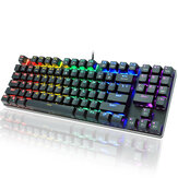 METOO Z56 89 Keys Mechanical Keyboard Wired RGB Backlit with Numpad Anti-ghosting English Russian Gaming Keyboard