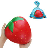 Giant Strawberry Squishy 25 * 20cm Kæmpe Frugt Langsom Rising Soft Toy Gift Collection With Packaging