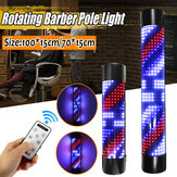 70 / 100CM * 15CM Controle Remoto Barber Shop Pole Rotating Led Bar Light Metal Cabelo Salon
