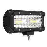 7 بوصة Tri Row 40W LED Work ضوء Bars Flood Spot Combo Beam IP68 6000K for Off Road Truck SUV