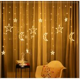 3.5M LED Moon Star Fairy String Light Boda Holiday Lámpara Decoración para fiestas en el hogar EU Plug AC220V
