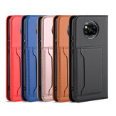 Bakeey for POCO X3 NFC Case Business Flip Magnetic with Multi-Card Slots Wallet Shockproof PU Leather Protective Case