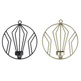 3D Geometric Candlestick Iron Wall Candle Holder Sconce Warm Home Party Decor