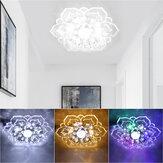 9W cristal moderne LED plafonnier pendentif lampe éclairage lustre