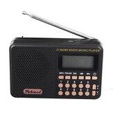 Mini radio portable 70 MHz-108 MHz FM / AM / SW Radio Rechargeable MP3 lecteur de musique haut-parleur prise en charge de la carte TF U lecture de disque