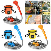 12V Camping Shower 20L Folding Bucket Bag Portable Car Washer High Pressure Power Electric Pump Washer Outdoor Camping Travel