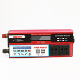 6000W Peak DC 12V / 24V til AC 220V Power Inverter Digital Modificeret Sine Wave 4 USB Port 2 Sockets
