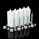 5Pcs/set 50ml 4:1 AB Glue Tube Dual Glue Cartridge Two Component Dispenser Tube with Mixing Tube Mixing Syringe for Industrial Glue Applicator
