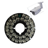 36pcs 850nm LEDs CCTV F5 Infrared Illuminator IR 90 Degrees Bulb Board for Bullet CCTV Camera