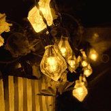 KCASA SSL-1 Jardinagem 6M 30LED Painel solar Light Diamond Holiday Decoração de casamento de Natal